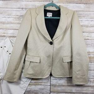 ARMANI COLLEZIONI 8 Blazer Jacket Textured Shimmer